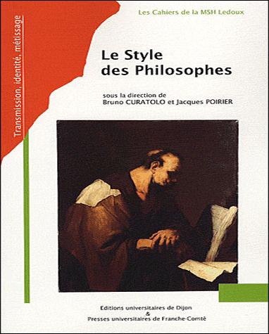 Couverture de l'ouvrage Le Style des philosophes