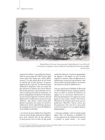 Page 78 du livre L'Hôpital et le Territoire illustrant ma mission de correctrice