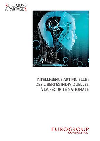 Couverture illustrant la mission de correctrice du livre Intelligence artificielle : des libertés individuelles à la sécurité nationale