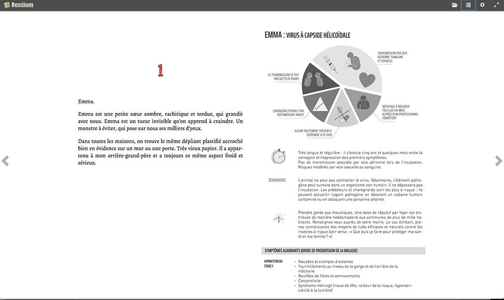 Création d'ebook : forcer un saut de page sur Readium. La première ligne du tableau n'est plus coupée. Le tableau débute sur la page suivante.